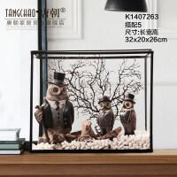 家居生活用品饰品玻璃罩摆件服装店咖啡厅陈列装饰品摆件软装饰品客厅摆件