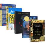 纽伯瑞金奖小说5册 英文原版小说 Newbery 仙境之桥 威斯汀游戏 时间的皱折 当你到达我 科幻推理原版少儿读物