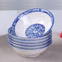 景德镇青花瓷碗 10个斗碗大号喝粥拉面碗 中式釉下彩可微波炉碗具kb6