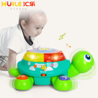 汇乐玩具678儿童玩具启智爬行龟电动玩具手拍鼓 玩具1-3岁爬行玩具
