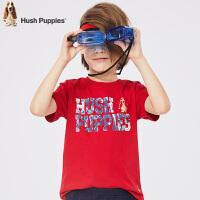 【3.5折价:80.5元】暇步士童装夏季新款男童短袖T恤时尚短袖圆领衫T恤儿童短袖T恤衫