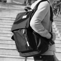 简约大学生书包男士双肩包大容量商务男时尚潮流休闲旅行电脑背包