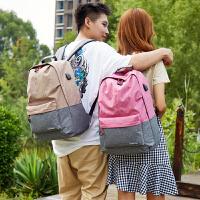 大容量日韩简约双肩包女韩版高中学生书包学院风男女旅游旅行背包
