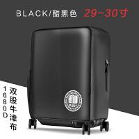 行李箱保�o套拉�U箱旅行箱套加厚耐磨防水26牛津布22罩20寸24寸28 款 酷黑色 29-30寸
