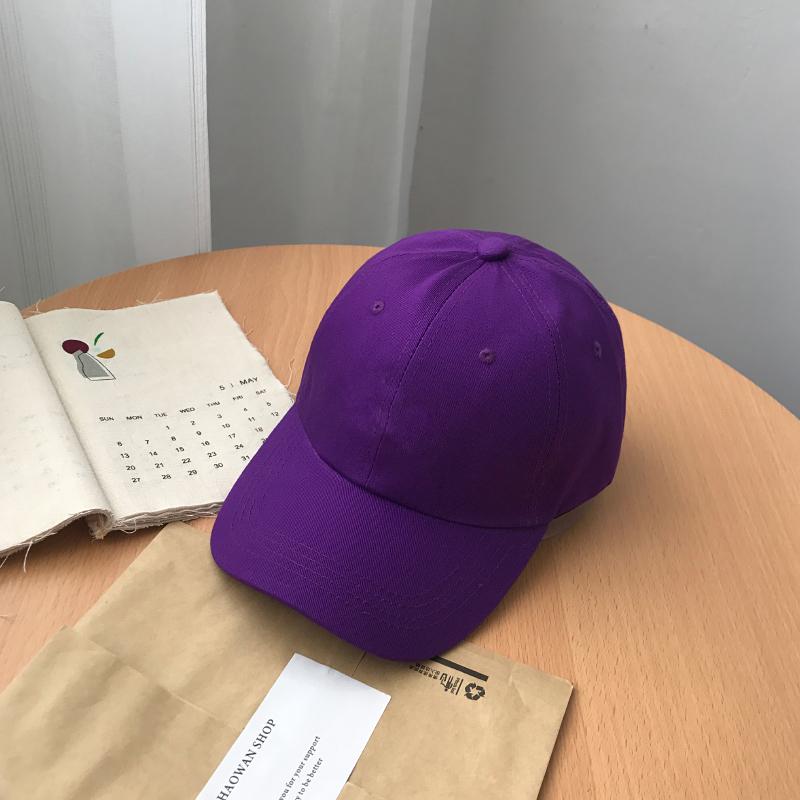欧美风ins紫色女款鸭舌帽新款夏季男韩版休闲百搭棒球帽子潮 软顶紫色 (纯色) 可调节 一般在付款后3-90天左右发货,具体发货时间请以与客服协商的时间为准