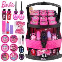 芭比儿童公主彩妆盒无毒化妆品套装小女孩手提箱玩具娃娃生日礼物