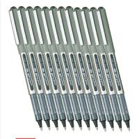 三菱(UNI)中性笔UB-157签字笔0.7mm(非钢笔)(金属色笔杆)12支装 黑色