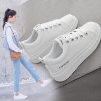 【支持礼品卡支付】2018夏款厚底小白鞋女韩版系带休闲鞋运动鞋子 RA905