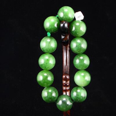 和田玉碧玉19毫米大珠手串天然玉石手链