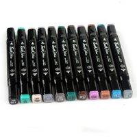 满99包邮 正品touch 三代双头油性酒精马克笔3代 通用标准24色套装