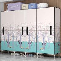 简易衣柜塑料大组合柜子钢架储物收纳布艺简约现代经济型组装衣橱o7t