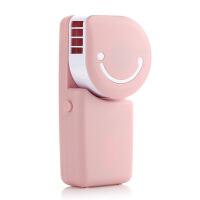 夏季创意手持式USB充电无叶风扇/空调扇 迷你小风扇 笑脸风扇