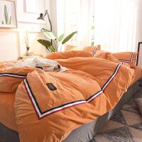 床上四件套法�m�q珊瑚�q被�未�嗡�晶�q毛被罩1.8m�p人床春秋床品