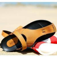 走索男士人字拖夏季韩版凉鞋半拖鞋休闲鞋夹脚沙滩鞋英伦透气凉拖鞋潮ZS1920