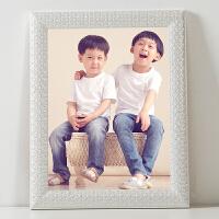 粉色实木儿童相框挂墙 16寸20寸24寸30寸36寸写真婚纱照像框定做