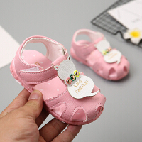 女宝宝凉鞋新款公主软底婴儿鞋女童学步鞋包头防滑