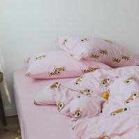 全棉针织棉三四件套床单日式印花卡通纯棉床笠款裸睡被套床上用品