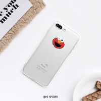 趣味可爱卡通苹果X/Xs/Max/XR手机壳iPhone7/8Plus透明软壳6S情侣 6/6s 红