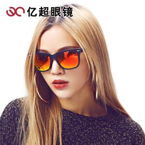 新款亿超长方形太阳镜 偏光墨镜男士潮人司机镜 太阳眼镜YC9711