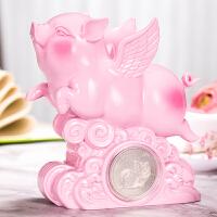 招财飞天猪摆件工艺品 风口上的猪 创意生日礼物实用儿童房装饰品