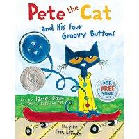 英文原版儿童绘本 皮特的猫和他的四个漂亮的按钮 Pete the Cat and His Four Groovy But