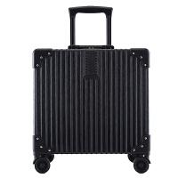 行李箱铝框箱万向轮女迷你拉杆箱18寸复古登机箱男密码箱旅行箱20 18寸