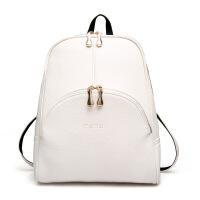 女士时尚女包 单肩小包复古旅行背包学院风双肩包 白色