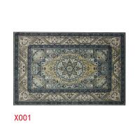 北欧民族风地毯卧室客厅沙发茶几垫现代简约美式家用可水洗长方形 咖啡色 X001