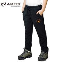 【特价39元】AIRTEX亚特秋冬季保暖裤子男女童套装户外加厚摇粒绒儿童抓绒长裤