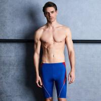 男士大码专业平角五分泳裤速干游泳裤 男款大码温泉泳衣裤男士泳裤修身
