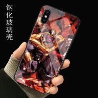 复仇者联盟4苹果X/XR玻璃手机壳XS MAX钢铁侠iPhoneX终局之战漫威 (灭霸) 下单留言备注型号