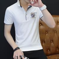 男士POLO衫短袖海军保罗衫夏季翻领T恤英伦风上衣潮牌衣服P801