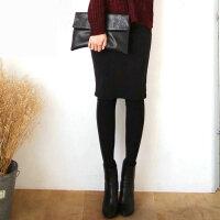 秋冬中长包臀假两件打底裤显瘦外穿女打底裙裤