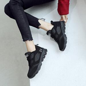 ZHR2018春秋季新款INS超火休闲运动鞋子女士平底轻便跑步鞋街拍款