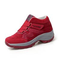 中老年健步鞋女士休闲防滑旅游鞋中年妈妈鞋41冬季轻便保暖二棉鞋