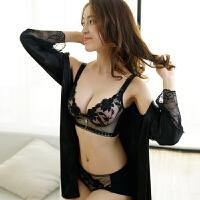 性感胸罩收副乳防下垂内衣女聚拢调整型文胸侧收加厚上托套装
