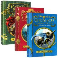 哈利波特外传3册套装 英文原版 Harry Potter 神奇动物在哪里 诗翁彼豆故事集 神奇的魁地奇球 英文版进口儿