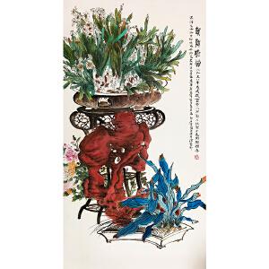 郑乃珖《花鸟》著名花鸟画家