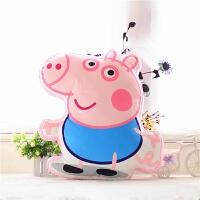 卡通3D佩奇毛绒抱枕 佩佩猪粉红猪小妹抱枕靠垫 儿童小猪玩具 +