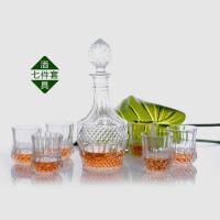 创意七头玻璃酒具套装洋酒红酒酒樽酒杯