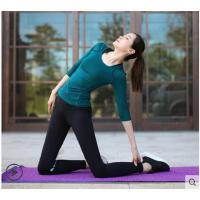 撞色气质中袖紧身长裤显瘦瑜珈四件套瑜伽服运动套装女晨跑速干衣