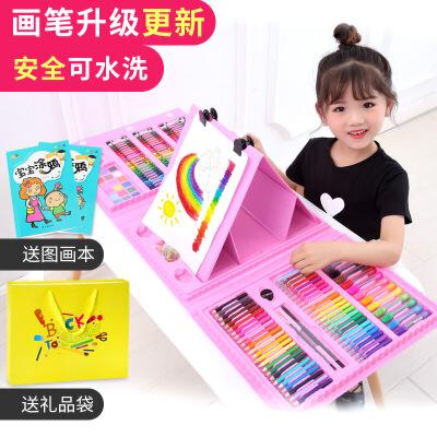 儿童水彩笔套装24色幼儿园画笔颜色笔安全无毒可水洗画画笔36色彩笔小学生彩色笔软头美术用品女孩生日礼物12 升级款 全新
