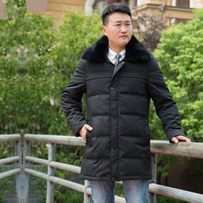 中老年人男士羽绒服加肥加大码200斤6X爷爷加厚外套爸爸装兔毛领 发货周期:一般在付款后2-90天左右发货,具体发货时间请以与客服协商的时间为准