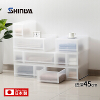 伸和日本进口极简透明衣柜收纳箱抽屉式收纳盒宜家塑料衣服整理箱
