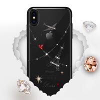 苹果x手机壳透明iphonexmax旅行全包xsmax防摔水钻硬壳iphonex个性创意新款男女ip 富士山_iPho