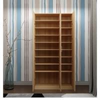 鞋柜简约现代简易组装实木大容量家用阳台对开门收纳柜