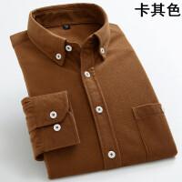 男士保暖衬衫长袖加绒加厚灯芯绒衬衣修身韩版潮寸棉男装