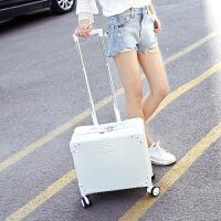 2018新款 行李箱 迷你女18寸拉杆箱小型复古旅行箱万向轮男密码皮箱子 18寸