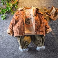 宝宝冬装套装1-234岁5男小童冬季加绒三件套婴幼儿休闲外出服潮衣