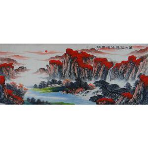 青年画家   王晶  八尺 万山红遍鸿运当头   /10
